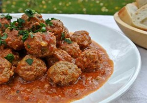 Meatballs with Chipotle-Tomato Sauce