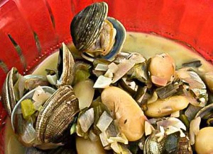 Clams and Beans in Buttery Wine Broth