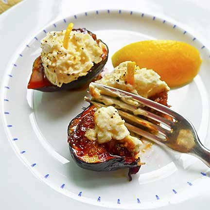 Grilled Figs With Honeyed Mascarpone Recipe — Dishmaps