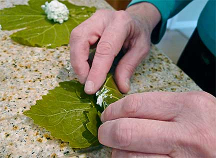 Rolling Grape Leaves Step 4