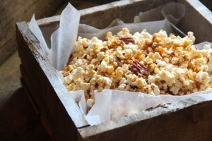 Salted Maple Pecan Carmel Corn from Alaska From Scratch