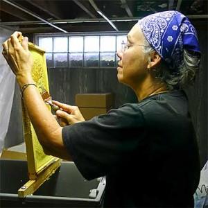 Beverly Barker Opening Honey Cells, 2012