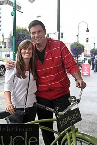 Chuck Hughes, Kait Reiley, and the PopCycle, photo courtesy of The Cooking Channel