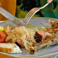 Mother's Choucroute Garnie (Braised Sauerkraut and Meats)