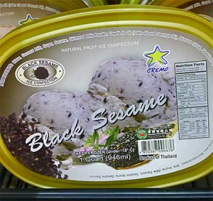 Lucky Market Black Sesame Ice Cream