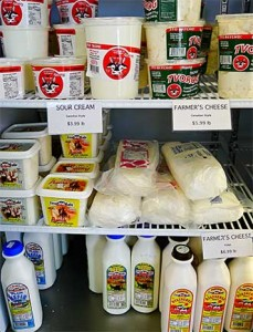 Farmer's Cheese, Canadian Sour Cream, and Kefir at Eastern European Store & Deli