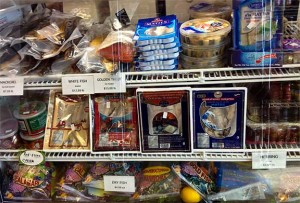 Cured Fish at Eastern European Store & Deli