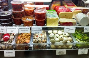Salads and Pickles at Eastern European Store and Deli