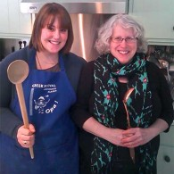 Cooking Student Nora Morse with Laurie Constantino March 2013