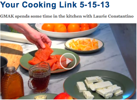 Laurie Constantino on TV: Salmon with Rosemary Honey