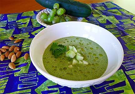 Green Gazpacho. Photograph by Laurie Constantino